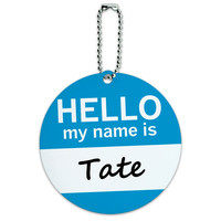 Tate Hello My Name Is Round ID Card Luggage Tag