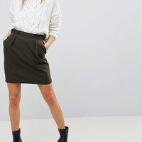 ASOS Tailored Ruffle Paperbag Waist A-Line Mini Skirt at asos.com