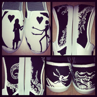Nightmare Before Christmas Painted Shoes / Toms by SweetHeartShoes