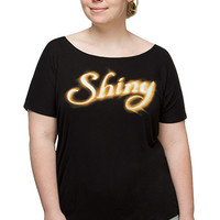 Stay Shiny Relaxed Fit Ladies' Tee - Black,