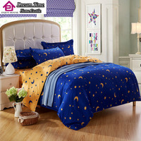 Home textiles,luxury solid color,point,moon and stars 3/4pcs bedding sets bed linen include comforter cover bed sheet pillowcase