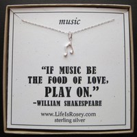 Musical Note Necklace  Music Necklace  Gifts for by LifeIsRosey