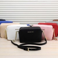 michael kors simple fashion all match chain single shoulder messenger bag mk women zip small square bag