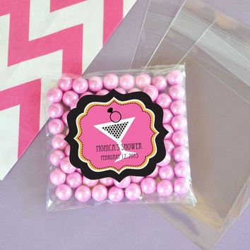 Bachelorette Party Clear Candy Bags (Set of 24)