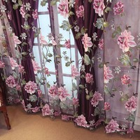 Sinogem Brand drapes sheer window curtains for living room the bedroom kitchen modern tulle curtains window treatment blinds New