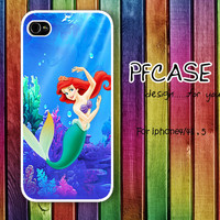 Little Mermaid in the wonder Sea Pattern: Handmade Case for Iphone 4/4s , Iphone 5 Case Iphone