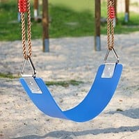 Outdoor Children's Swing Seat EVA Heavy Duty Swing Accessories with Metal Triple-cornered Ring 300Kg /660 Lb Weight Limit Outdoo (Blue)