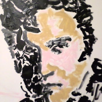 Elvis Presley Art, Large Recycled Art, Elvis, Rock Art, Music Art, Urban Art, Modern Decor, Sumie, Large Wall Art, Fathers Day Gift