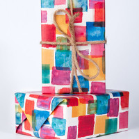Painter's Swatch Wrapping Paper / 12 Sheets
