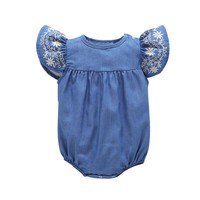 Cool Baby Denim One-Pieces Baby Girl Clothes Newborn Baby Gril Jumpsuit