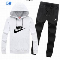 "Women Fashion ""NIKE"" Print Top  Pants Sweatpants Set Two-Piece Sportswear"