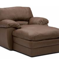 Color Customizable Leather Chaise Lounge Marcella by Palliser