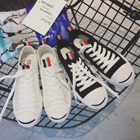 """""""ulzzang"""" All-match Fashion Classic Open Laugh Couple Canvas Straps Shoes Casual Male Female Harajuku Shoes  Flats Shoes Plate Shoes"""