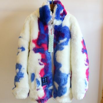 Fendi autumn and winter new men and women sweater  trend couple models print Double faced