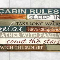 Cabin Rules Accent Rug