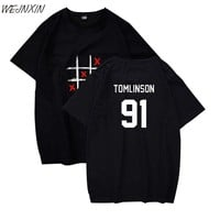 WEJNXIN 2018 Louis Tomlinson Summer T-shirts Women Men Unisex Happy Days Casual T Shirts Short Sleeve Tshirt O-Neck Top Tee
