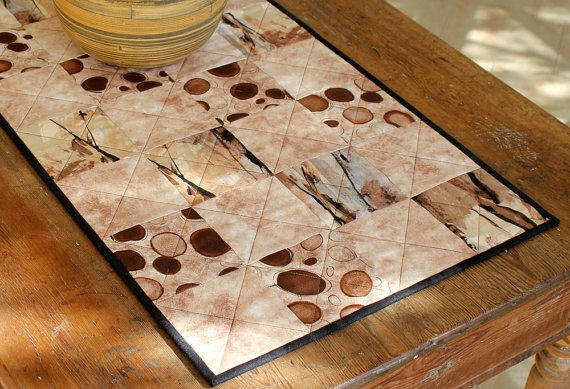 Quilted Coffee Table Runner Modern Coffee From Redneedlequilts