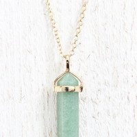 Sage Stone Necklace