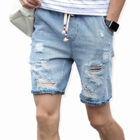 Thin Denim Shorts