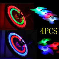 Bicycle Wheel Spoke Tire Wire Tyre LED Neon Light Lamp Bulb - Red,Blue,Green and Multi-color (Red Blue Green and Multi-color)
