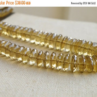 51% Off Outstanding Beer Quartz Gemstone German Cut Faceted Rondelle 9 to 9.5mm 37 beads