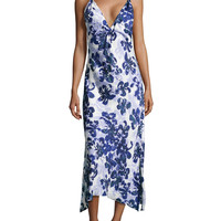 Magnolia Reflections Floral-Print Gown,