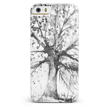 Abstract Black and White WaterColor Vivid Tree iPhone 5/5s or SE INK-Fuzed Case