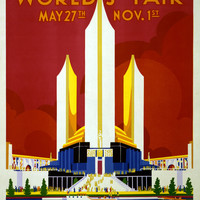 Chicago Worlds Fair May 27th Nov 1st 1933 Poster