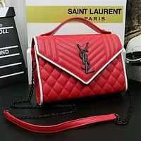 YSL Fashion new women leisure leather crossbody bag shoulder bag Red