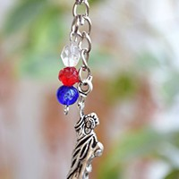 USA keychain American flag accessories Patriotic accessory Memorial Day gift 4th of July jewelry The Statue of Liberty symbol New York United States Independence Day gift Unisex Charm summer keyring