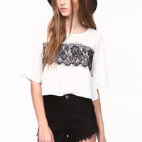 Lace Woven Crop Top - LoveCulture