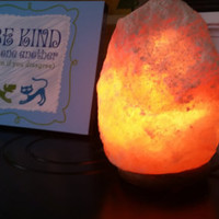 Mother's Day perfect gift!  Himalayan Salt Lamps, set of Two w/On/Off switch cord, 5-7 lbs