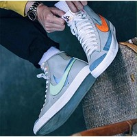 Nike Blazer Mid high-top canvas men's and women's sneakers Shoes