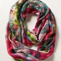Blushing Floral Infinity Scarf by Anthropologie Pink One Size Scarves