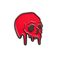 Dripping Skull Pin-Red