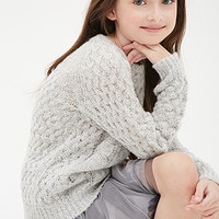 Cabled Open-Knit Sweater (Kids)