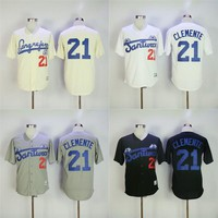 Roberto CLEMENTE #21 Santurce Crabbers Puerto Rico Jersey Men's 100% Stitched Embroidery Logos Baseball Jerseys Any Name and Number S-3XL