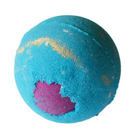 Christmas Wishes Bath Bomb- Christmas Bath Bomb-Blue and Purple, Cruelty Free Leaping Bunny Ceritfied