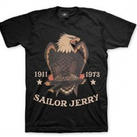 """Men's """"Bold Eagle"""" Tee by Sailor Jerry (Black)"""