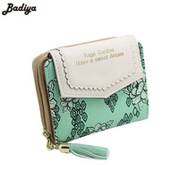 Vintage Women Floral Small Wallet Purses