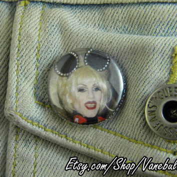 "1"" Pin Back Button- Sharon Needles - 1771"
