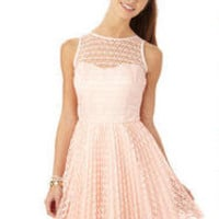 Bow Back Lace Party Dress