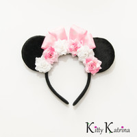 Pink Minnie Mouse Ears Inspired Headband, LED Headband, Mouse Ears Headband, Minnie Ears, Disney Bound, Disney Headband, Disney Cosplay