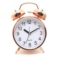 Rose Gold Alarm Clock with Snooze & Night Light