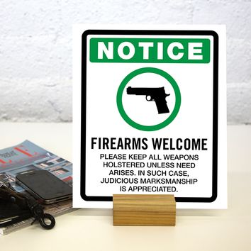 Firearms Welcome Notice