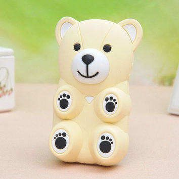 3D Cartoon Bear Silicone Back Case cover for Iphone 4/4s/5 from Fancy Mall