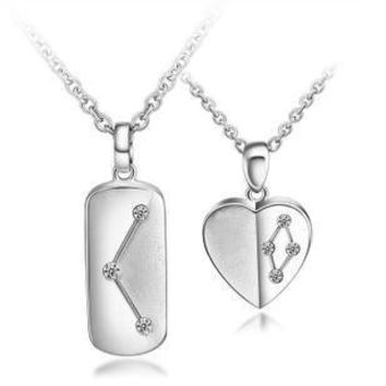 Gullei Trustmart : Cool Stars sterling silver similar heart couple necklaces [GTMCN007] - $79.00-Couple Gifts, Cool USB Drives, Stylish iPad/iPod/iPhone Cases & Home Decor Ideas