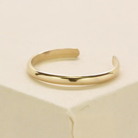 Gold Toe Ring, 14K Yellow Gold fill, Half Round, Simple, Everyday, Kristin Noel Designs