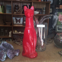 """Red Cat Candle 11.5"""""""