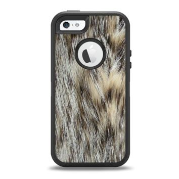 The Furry Animal  Apple iPhone 5-5s Otterbox Defender Case Skin Set